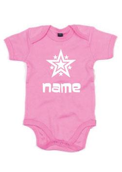 Babybody Stern mit Name