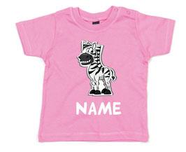 Babyshirt Zebra mit Name