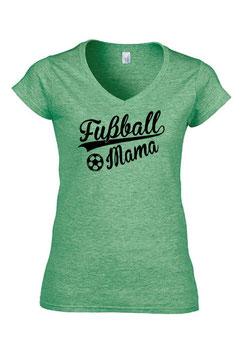 T-Shirt Fussball-Mama V-Ausschnitt