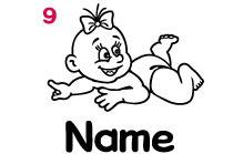 Babyautokleber 9