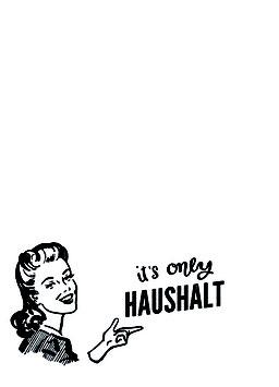 "Postkartenset ""It's only Haushalt"""