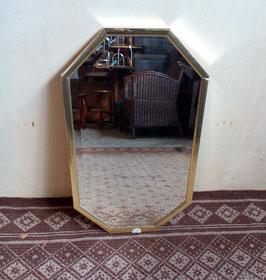 8-hoekige spiegel met gouden rand | Art.0036