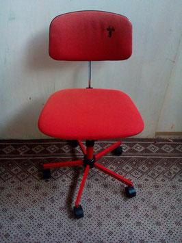 Rode jaren 70 bureaustoel | Art.0112