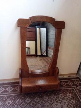 Eiken spiegel met kambakje0116