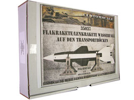 35037 Deutsche Lenkrakete/Flugabwehrrakete Wasserfall C2 W5 auf den Transportböcken
