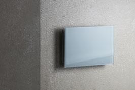 Ventilatie rooster rechthoekig wit glas met magneten