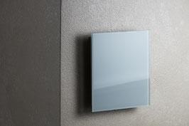 Ventilatie rooster vierkant wit glas met magneten