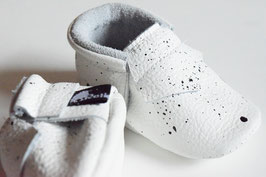 White Splash Moccs