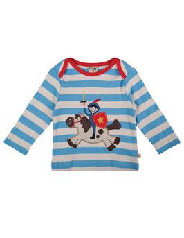 Frugi LA Shirt Ritter auf Pferd blau/weiß