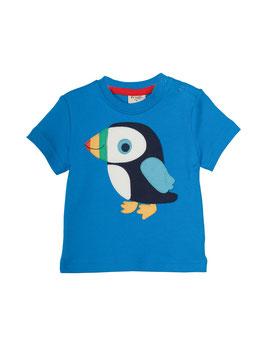 Frugi T-Shirt Papageientaucher blau