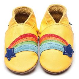 inch-blue Lauflernschuhe Regenbogen gelb