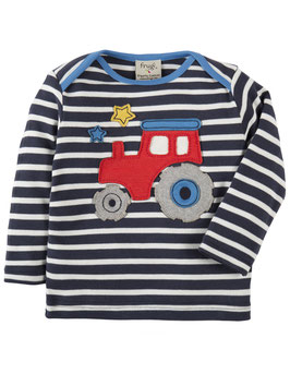Frugi LA Shirt Traktor marine/weiß gestreift