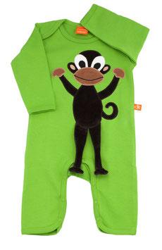 """Lipfish Jumpsuit, LA  Motiv """"Affe"""" Farbe """"green"""" 7329"""
