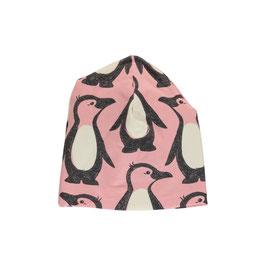 Maxomorra Mütze gefüttert Pinguin rosa