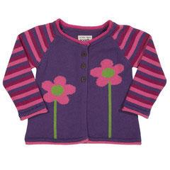 Kite Strickjacke Blume lila/pink