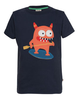 Frugi T-Shirt Monster dunkel-blau