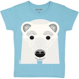 Coq en Pate T-Shirt Mibo Eisbär Hellblau