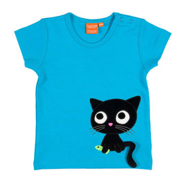 "Lipfish T-Shirt, Motiv ""cat "" türkis"
