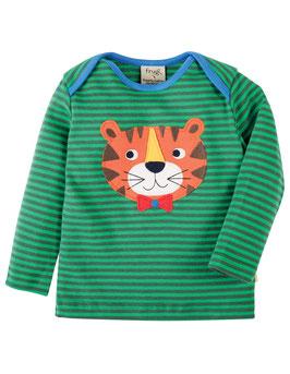 Frugi LA Shirt Tiger grün gestreift