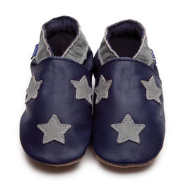 inch-blue Lauflernschuhe Sterne blau/grau