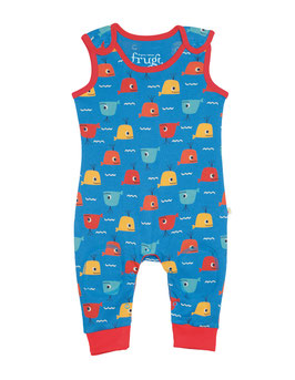 frugi Overall  Wale rot/blau/gelb