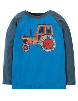 Frugi LA Shirt Traktor Druck blau/marine