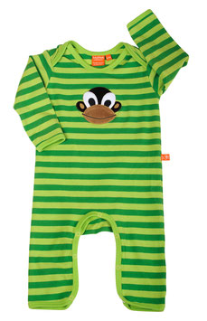 "Lipfish Jumpsuit,LA Motiv ""monkey"" Farbe "" green striped"