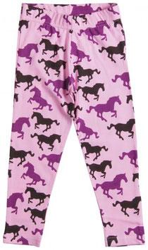 Maxomorra Leggings Pferde rosa/lila