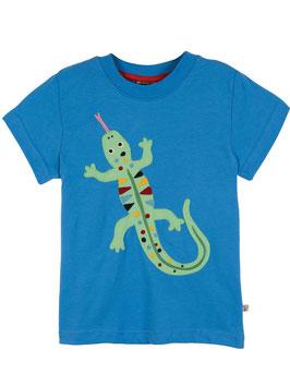 Frugi T-Shirt Eidechse blau