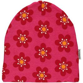 Maxomorra Mütze gefüttert Anemone pink