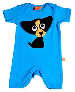 "Lipfish Jumpsuit,KA Motiv ""puppy"" Farbe ""turquoise""7352"