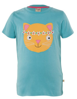 Frugi T-Shirt hell-blau Cat
