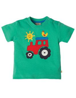 Frugi T-Shirt Traktor grün
