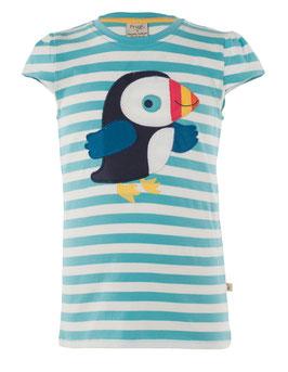 Frugi T-Shirt Papageientaucher  Streifen blau/weiß