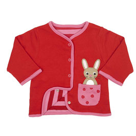 Toby Tiger leichte  Wendejacke Hase rot/pink