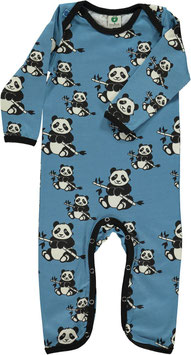 Smafolk Strampler Panda blau