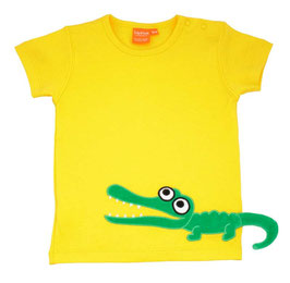 "Lipfish T-Shirt, Motiv ""crocodile"" Farbe yellow"
