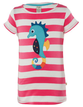 Frugi T-Shirt Seepferd rosa gestreift