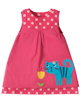 Frugi Wendekleid Raspberry cat/Blumen