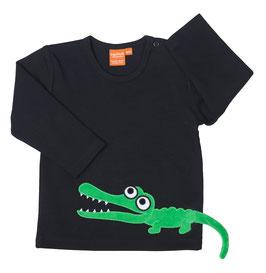 Lipfish LA Shirt Krokodil schwarz