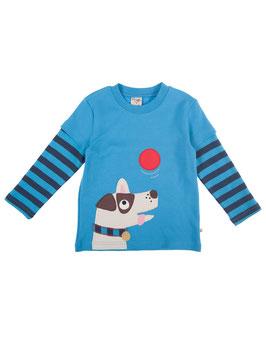 Frugi LA Shirt Hund mit Ball blau/marine