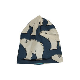 Maxomorra Mütze gefüttert Eisbär blau
