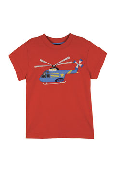 Frugi T-Shirt Helikopter rot