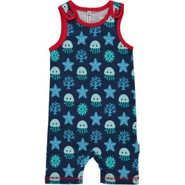Maxomorra Playsuit kurz Deep Sea