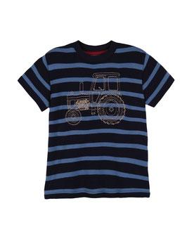 Frugi T-Shirt Traktor Streifen marine-blau