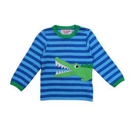 Toby tiger LA Shirt Krokodil  Streifen blau