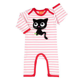 "Lipfish Jumpsuit,LA Motiv ""cat"" rosa/weiß gestreift"