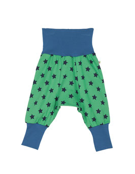 Frugi  Haremshose Sterne grün/blau