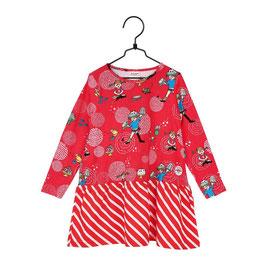 Martinex Pippi Langstrumpf LA Kleid rot gestreift Party