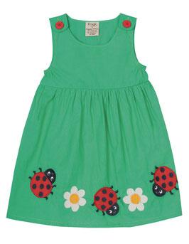 Frugi Kleid Marienkäfer grün